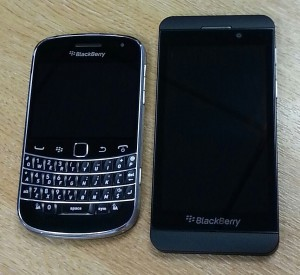 BlackBerry Bold 9900 and Z10