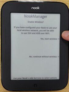 NookManager start wireless