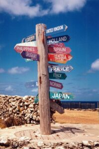 Signpost at North Point, Barbados, Feb.1998