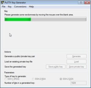 PuTTY key generation